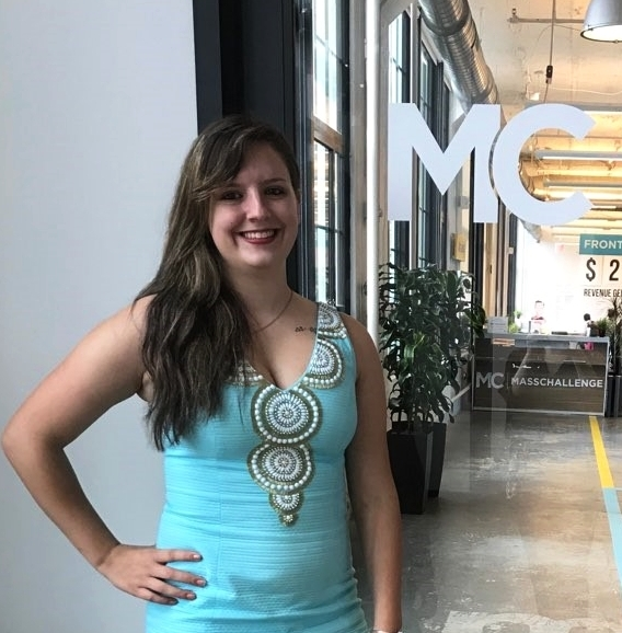 Jessie Pulling - CEO, Jessie Pulling, at MassChallenge headquarters and office.
