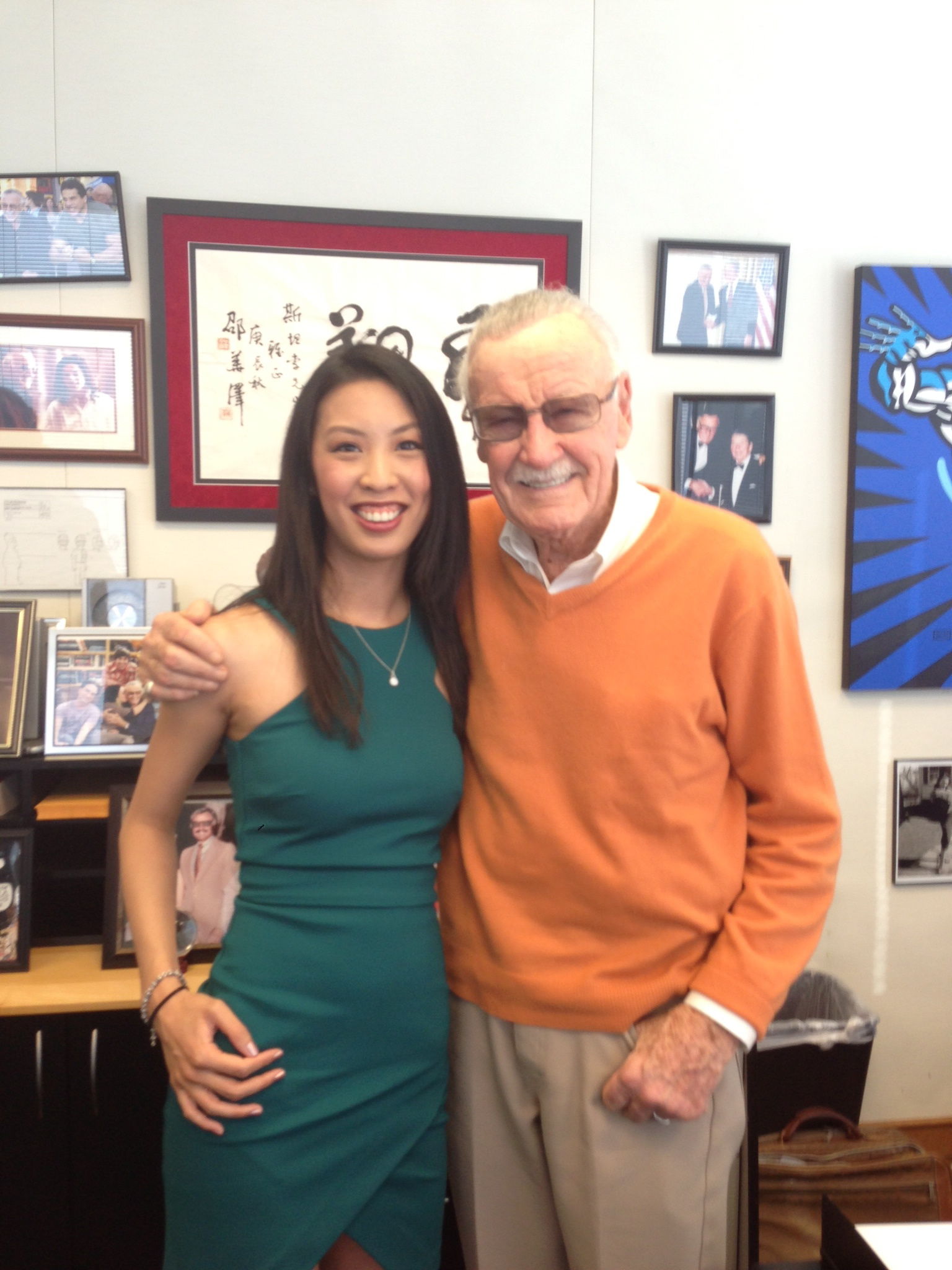 Kristie Hang with Stan Lee