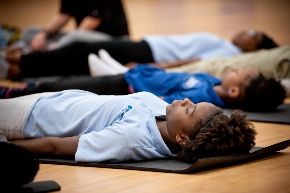 """Before I started yoga, I would hurt myself. Now yoga makes me feel peaceful."" - Ashlyn, 17, ResidentYouth Crisis Center"