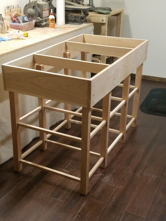 This custom vanity will be constructed to your measurements from CHERRY using NO nails or screws and will feature ALL dowel joints and construction.