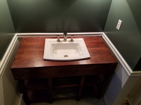 """Pricing will be based on your custom dimensional requirements. The vanity pictured here measures 48"""" wide by 34""""high and 26"""" deep."""