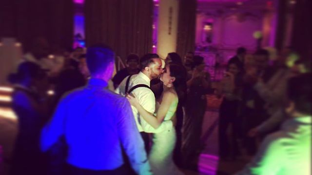 Stealing a kiss #wedding #nyc #realdjing #dj #brides