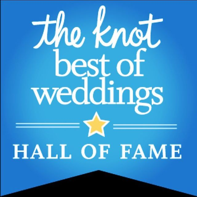 We're extraordinarily happy about this tremendous honor! #halloffame #theknot #theknotbestofweddings back to back to back to back 2014 / 2015 / 2016 / 2017