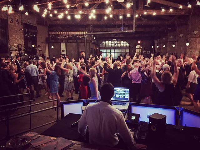 When you mix BIG with the Ramones... #saturdaynight #realdjing #nyc #wedding