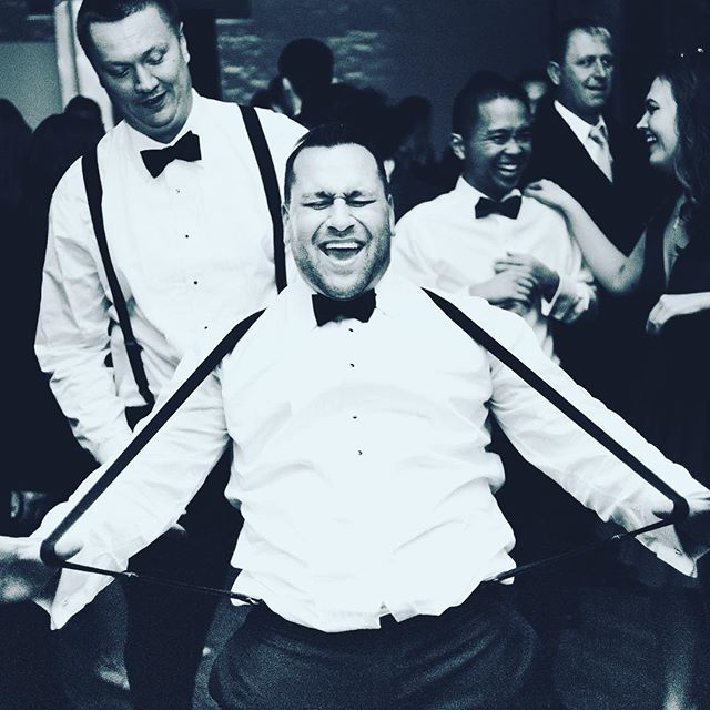 Listen, suspenders just cannot get in the way of pure joy. #musicmademedoit #realdjs #dj #weddingdj #newyork #nyc #nycwedding