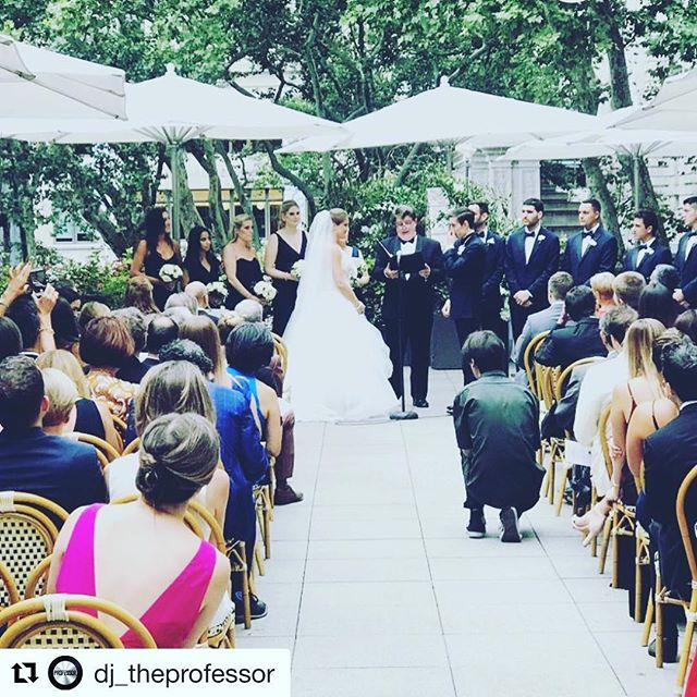 #Repost @dj_theprofessor ・・・ Wedding #3 in the last 36 hours for @classiceventsdjs. Exhausting but so worth it when we see that bride and groom leaving it all out on the dancefloor. #nycwedding #bryantparkgrill #classiceventsdjs #realdjing