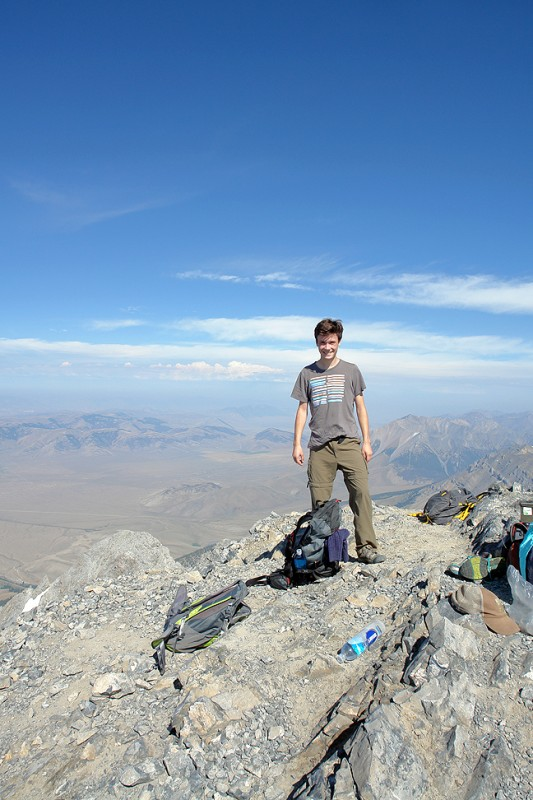 Jim on top of Mt. Borah!  His first peak, and its not an easy one.