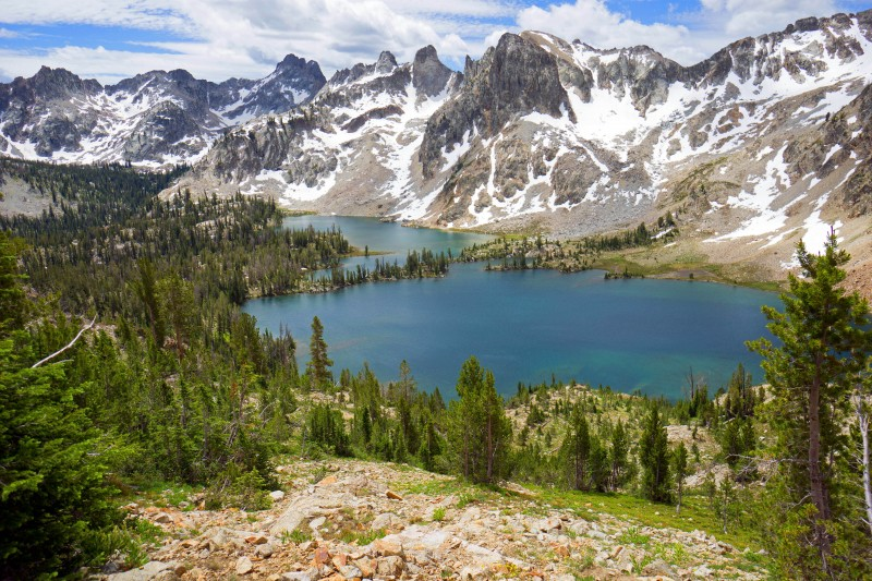 The peaks around Alice Lakes have to some of the best in the Sawtooths.