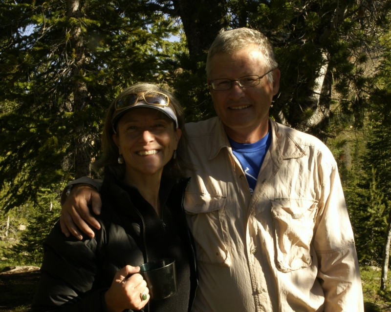 My lovely wife Tuckie (in the photo above) hiked in with us to Washington Lake, then headed out and spent some time with friends in Ketchum.