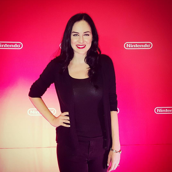 Jessica Davis at the Nintendo Gaming Lounge at San Diego Comic Con 2017