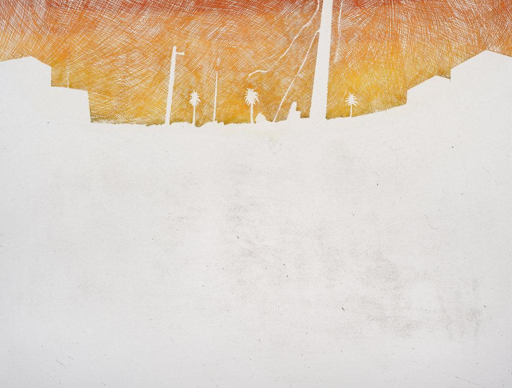 "Negative Saint  Intaglio, 18x24"", 2011"