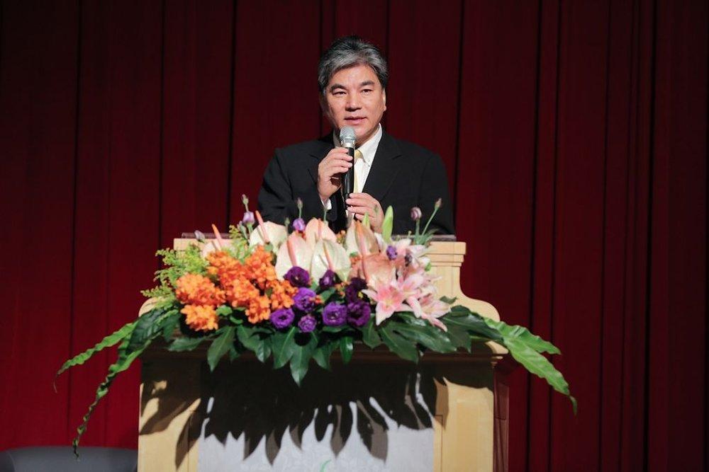 ▲前內政部長李鴻源致開幕詞