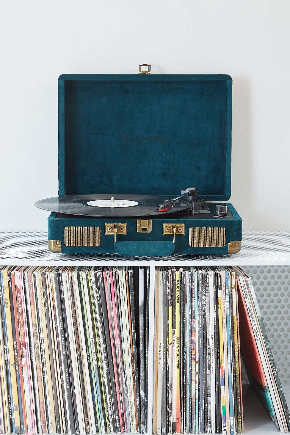 Crosley x UO Velvet Record Player - Now, he can listen to all his favorites artists on their limited edition vinyls!Available at Urban Outfitters $99