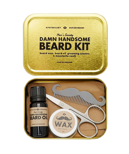 Men's Society Beard Grooming Kit - Now it's easier than ever to keep those 'stache hairs in check!Available at ASOS $40