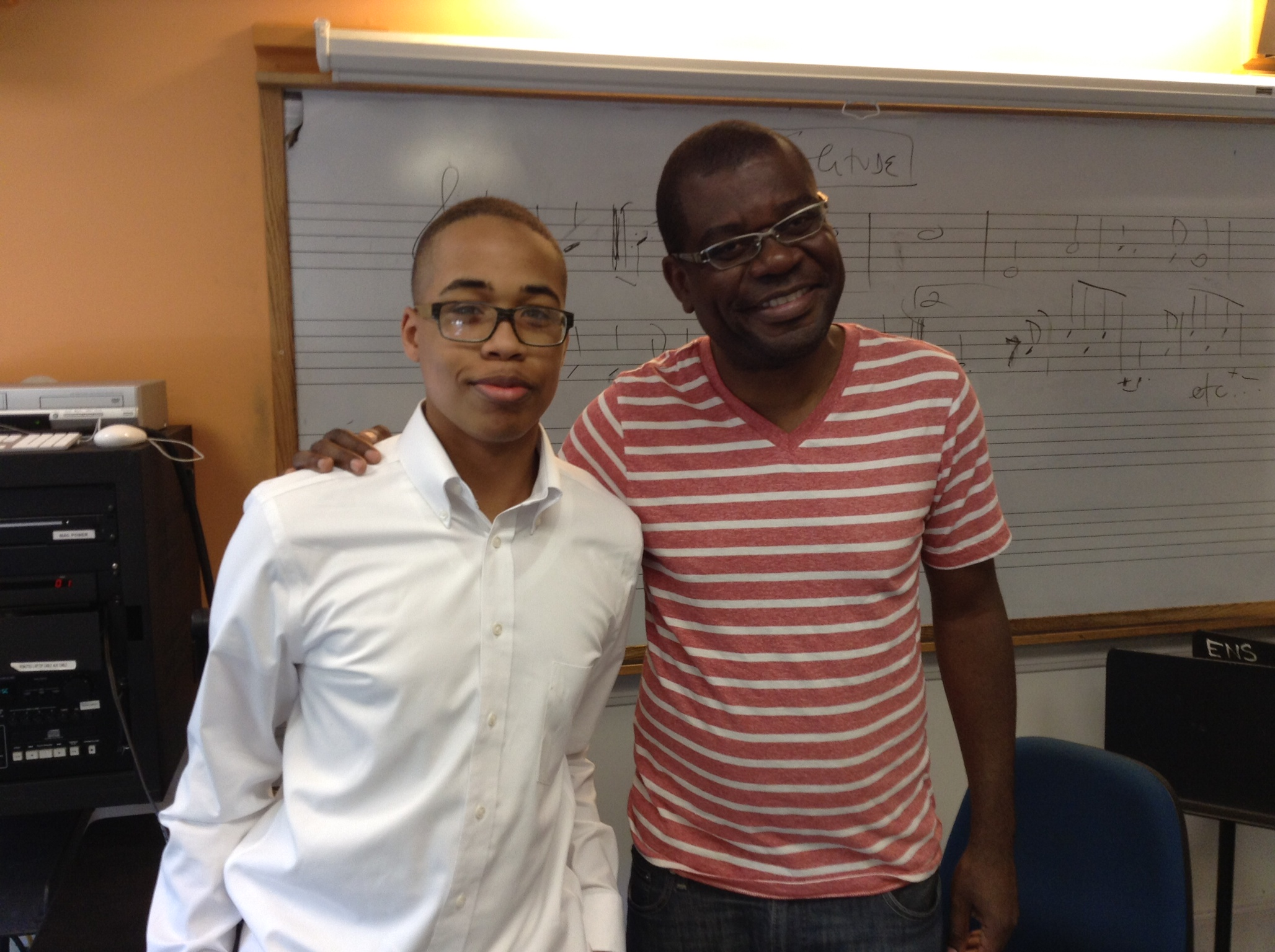 Zach Wilson at Berklee with Jetro de Silva