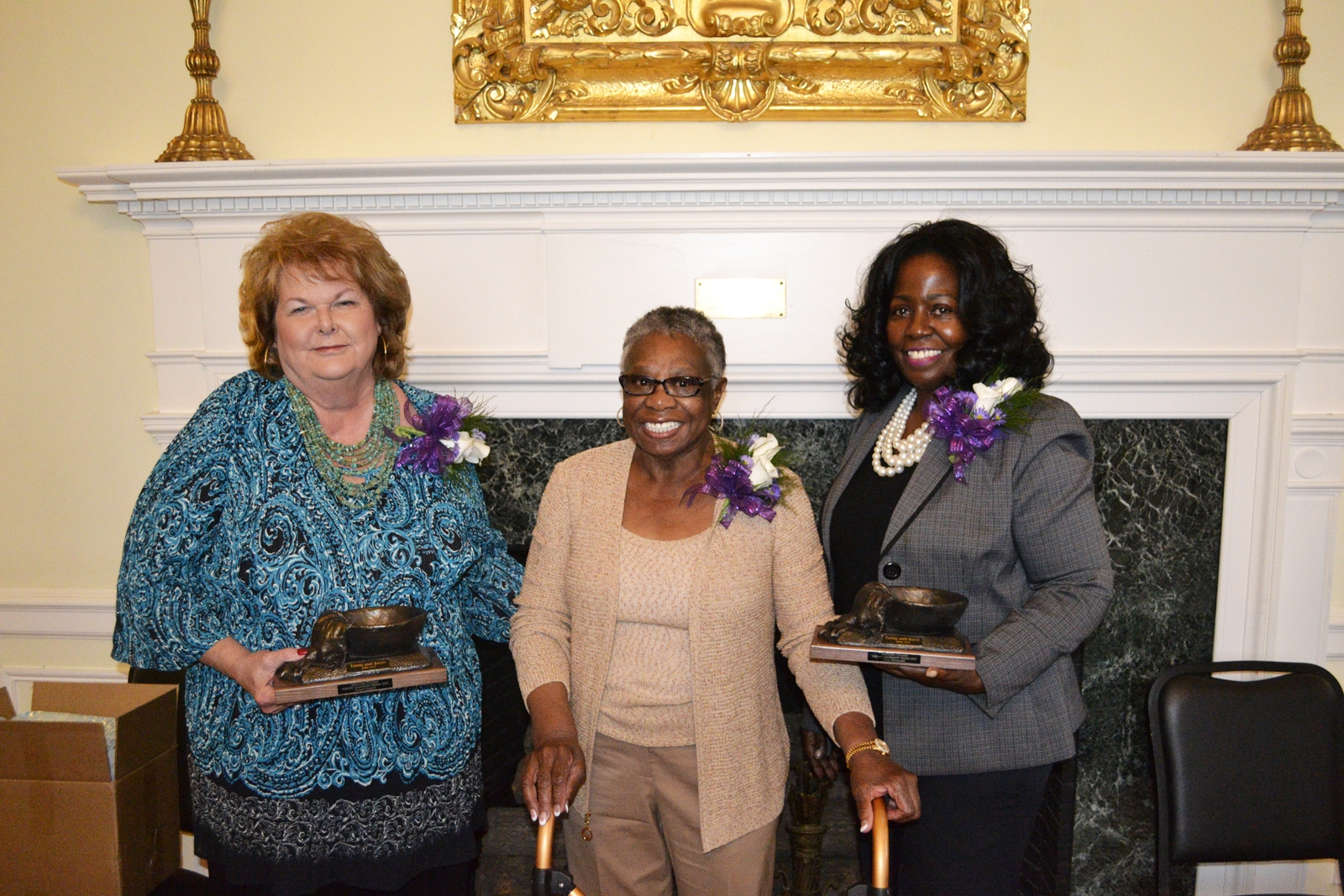 L to R Mrs. Susan Joanis Mrs. Zelma Redding Ms. Tina Dennard