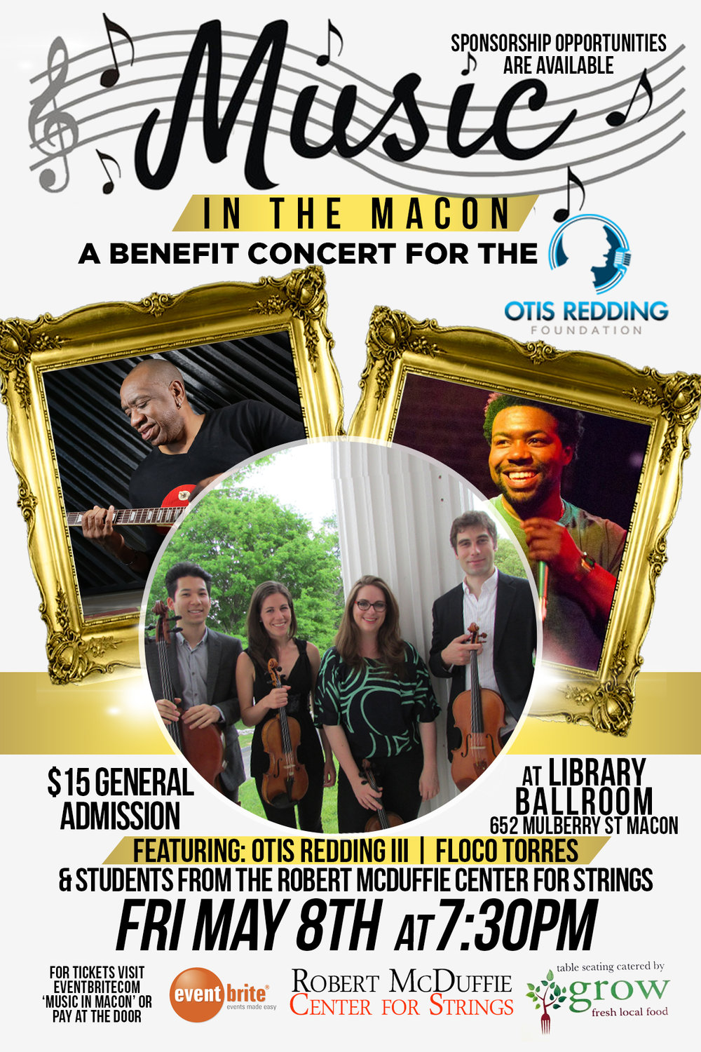 Music in the Macon Concert Flyer