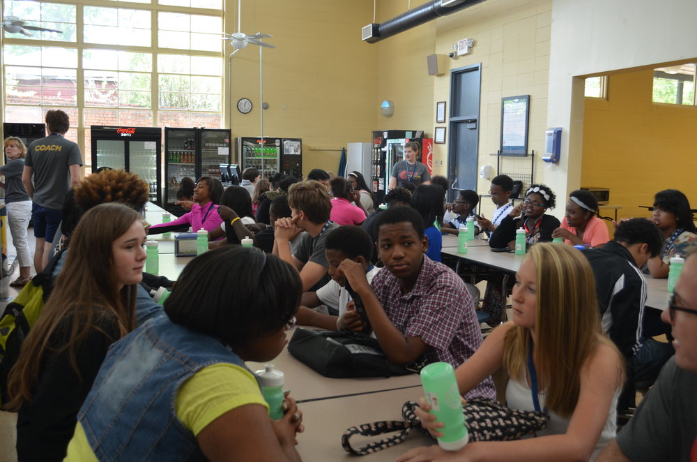 Campers at Lunch (Trinity Ridgeway, Gena Tripp, Richon Watson, Brooklyn Etheridge)