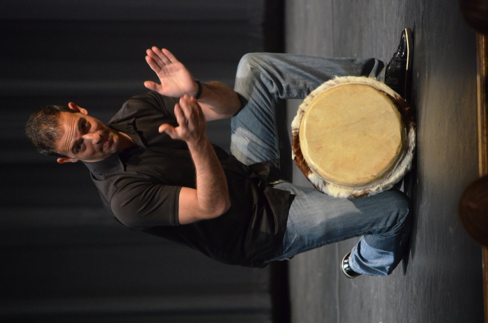 Steve Moretti demonstrating African rhythm