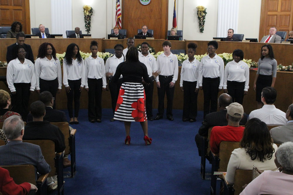 DREAM Choir Macon-Bibb Commission Inauguration 2016 2.JPG