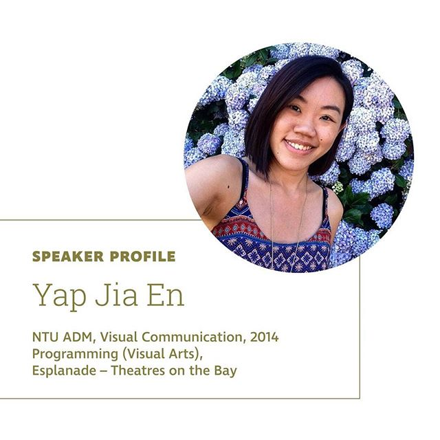 Our last speaker is Yap Jia En who is part of the Visual Arts team under the Programming