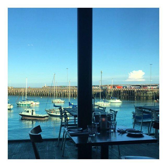 Dinner by the sea 🌊 😍#England #home #seaside #rocksalt