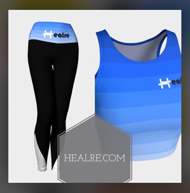 Graphic and textile design work for the Healre® leggings and athletic collection.