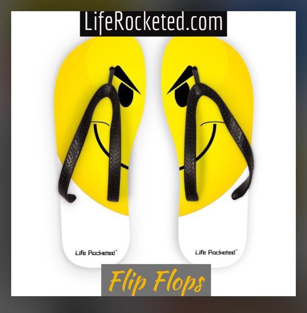 Life Rocketed flip-flops
