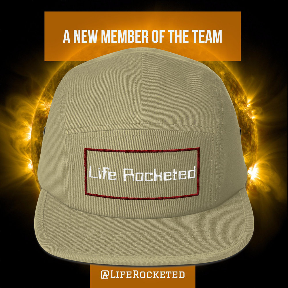 Social media advertisement for the Life Rocketed® brand.