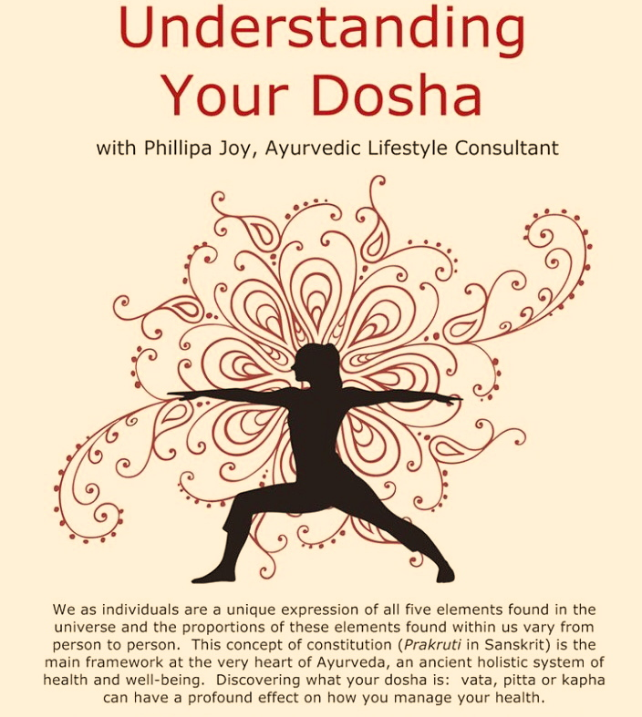 Understanding your dosha - Looking at the body, mind and spirit through the lens of Ayurveda allows us to understand our bodies better, what makes them tick, and what makes them sick. This workshop is geared to help participants understand their unique attributes (prakruti) and how to maintain balance in busy, modern day life through healthy habits, breathing exercises, food and yoga.Enquire here to book this session for your next group wellness event.