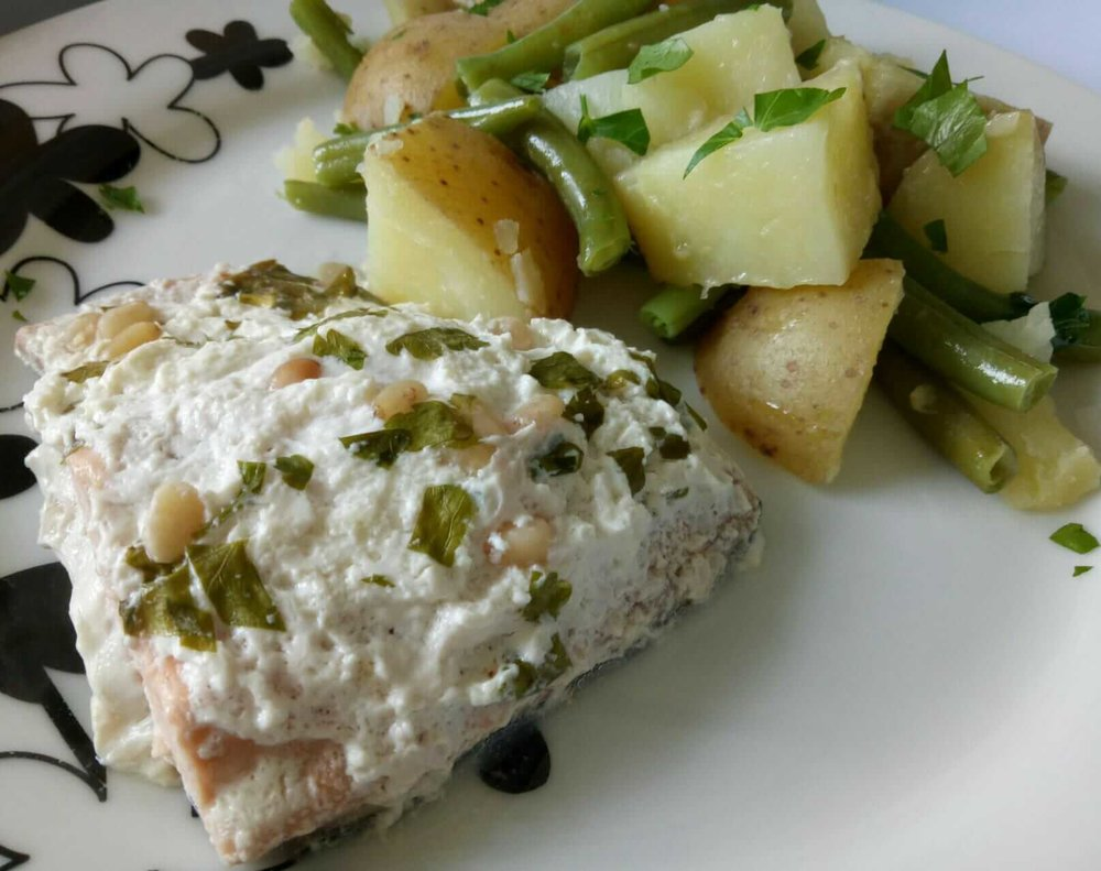 Baked Cream Cheese Salmon