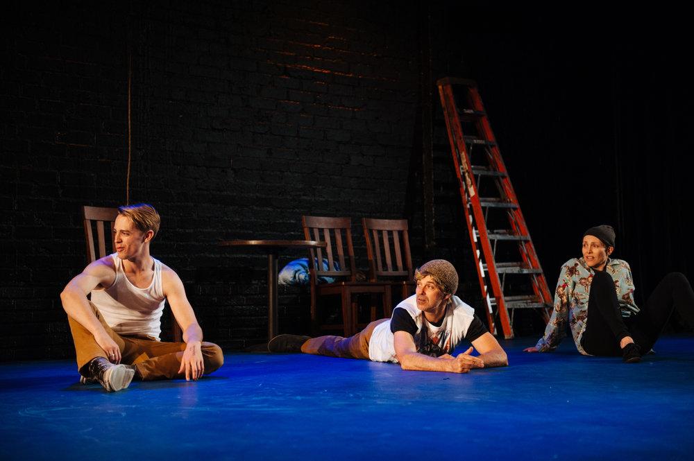 (L-R)Luke O'Sullivan, Cameron Daddo and Roxane Wilson.