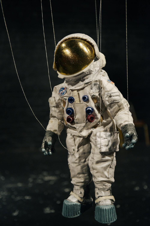 Neil Armstrong puppet.