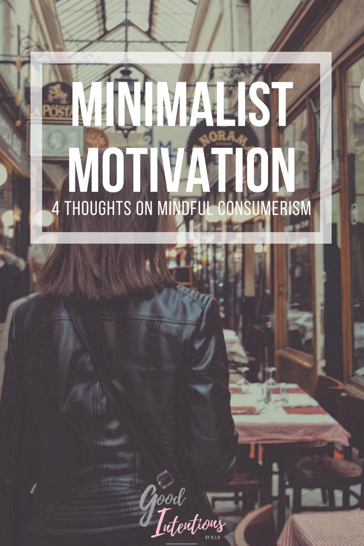 Good Intentions Blog Minimalism