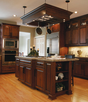 Cabinets, countertops, flooring, and trim work.