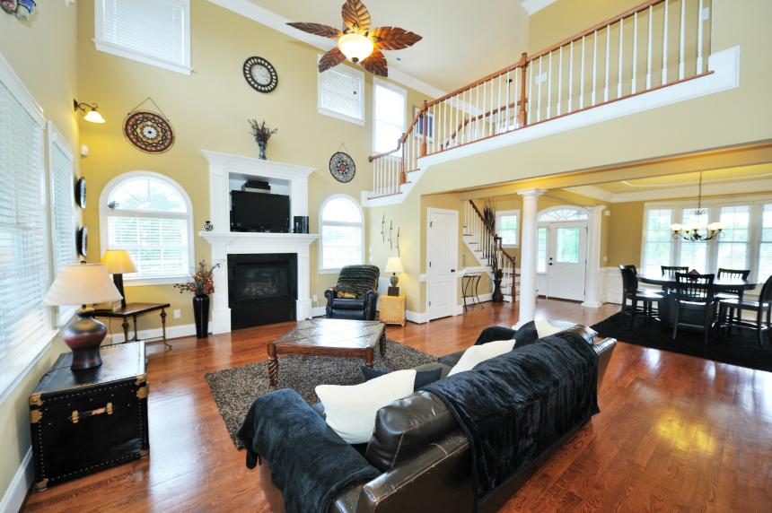 New living room after renovation.