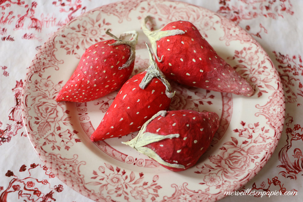 paper strawberries