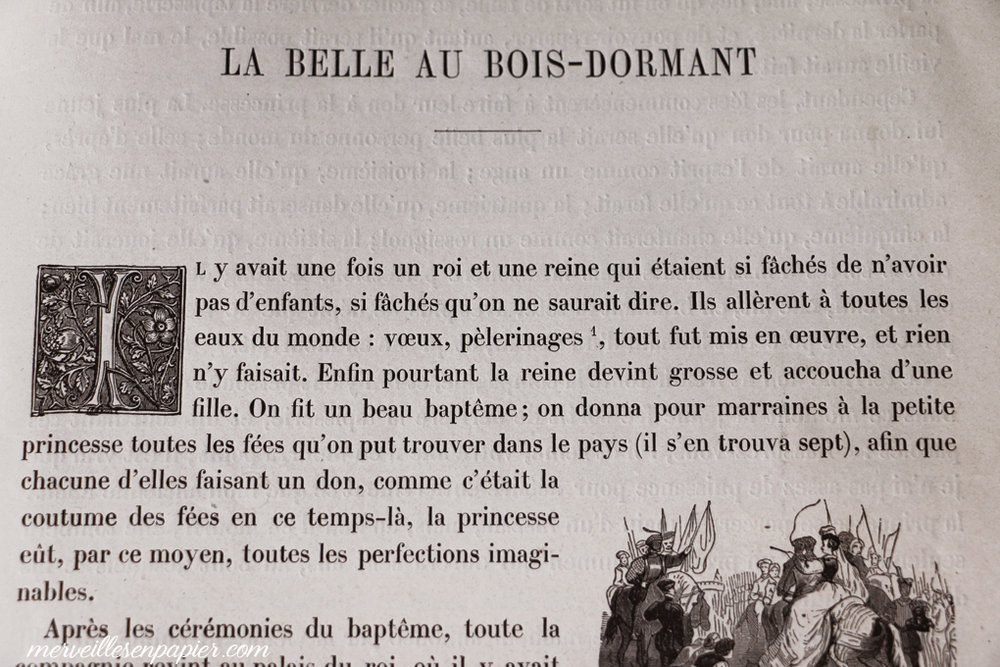 Belle au bois dormant, Charles Perrault, livre ancien