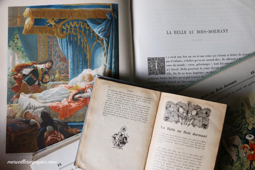 La Belle au Bois dormant, Charles Perrault, livres anciens
