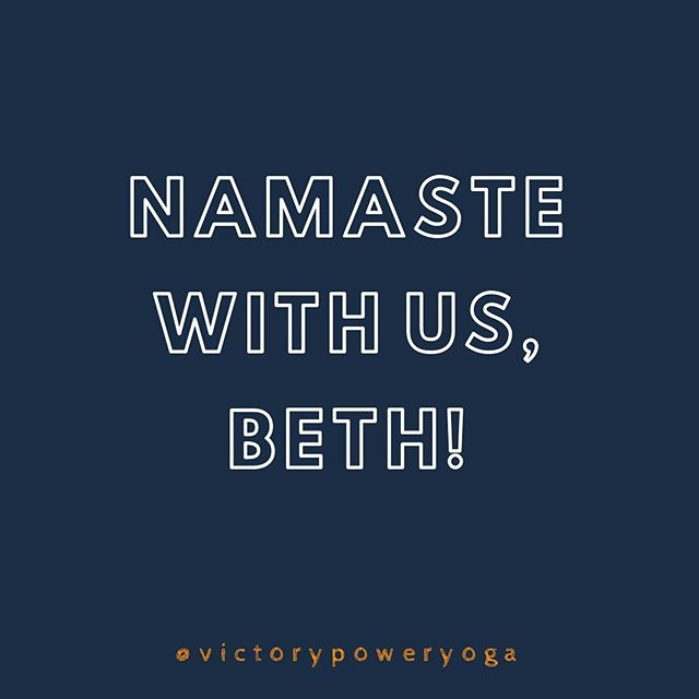 Beth has 4 more classes at VPY! 😫😭 Get on your mat and support this amazing teacher we have had the pleasure to get to know and grow along side! Tues and Thurs 9:30a. 💔
