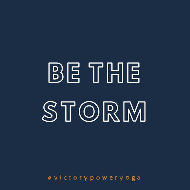 You can be affected by the storm or BE the storm. 💪⚠️Weather advisory today is looking rough, we are canceling tonight's Power Up class at 6pm. Stay safe, Clayton!⚠️