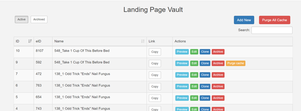 Lonoda - Landing pages admin tool.