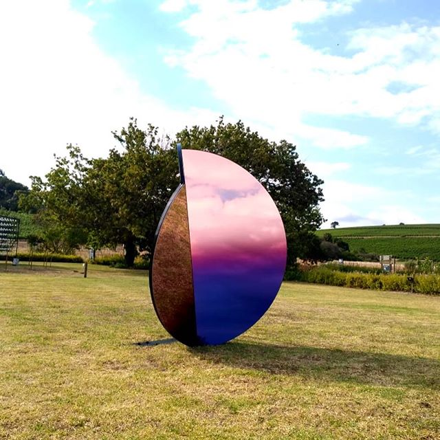 Folded Skies // Sunrise  We are so proud and happy to show you what we have been working on with the wonderful women from Counterspace.  A Series of Mirror Light Objects for Spier's Light Art Festival. This is one of 4 sculptures in the series called Folded Skies. 3 of which can be seen at The Spier Wine Estate until the 31st Jan.  __ #spierlightart #spierlightartfestival