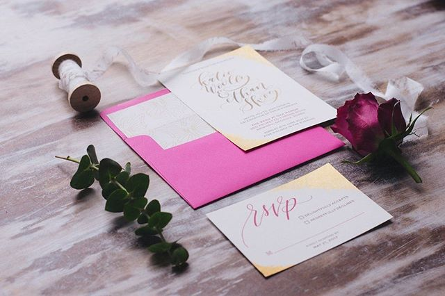Don't you just LOVE the personal touch of hand calligraphy for your stationery? Check out the lovely touches of gold!  If you're in Atlanta and in need of #weddingStationery help, check out @OhaiCrystal She is oh so talented!! . . . Planner and Design: @beyondtheido + @shaylaclaydesigns Photographer: @heathereetheridge Venue: @thebarnatoakmanor Florist: @eventsbyshamrock Baker/Wedding Cake: @cakesbyanna21 Favors/Baked Cookies: @notasfamous Stationery & Calligrapher: @OhaiCrystal Signage: @loveontopper.us Linen Rental: @simplypeachyrentalsanddesign Tableware Rental: @werentatlanta  Bridal Gown: @fabulousfrocksofatlanta Tuxedo Accessories: @moderngentstyle Jewelry: @myalmaco  Hair and Makeup: @emstylesatlanta . . . #weddingsbeyondtheido #beyondtheido #atlantaweddingplanner #atlantaweddingcoordinator #atlantacalligrapher #atlantahandmade #handmadeinatlanta #handmadeweddings #uniqueweddings #atlantagold #atlantaweddinginsp