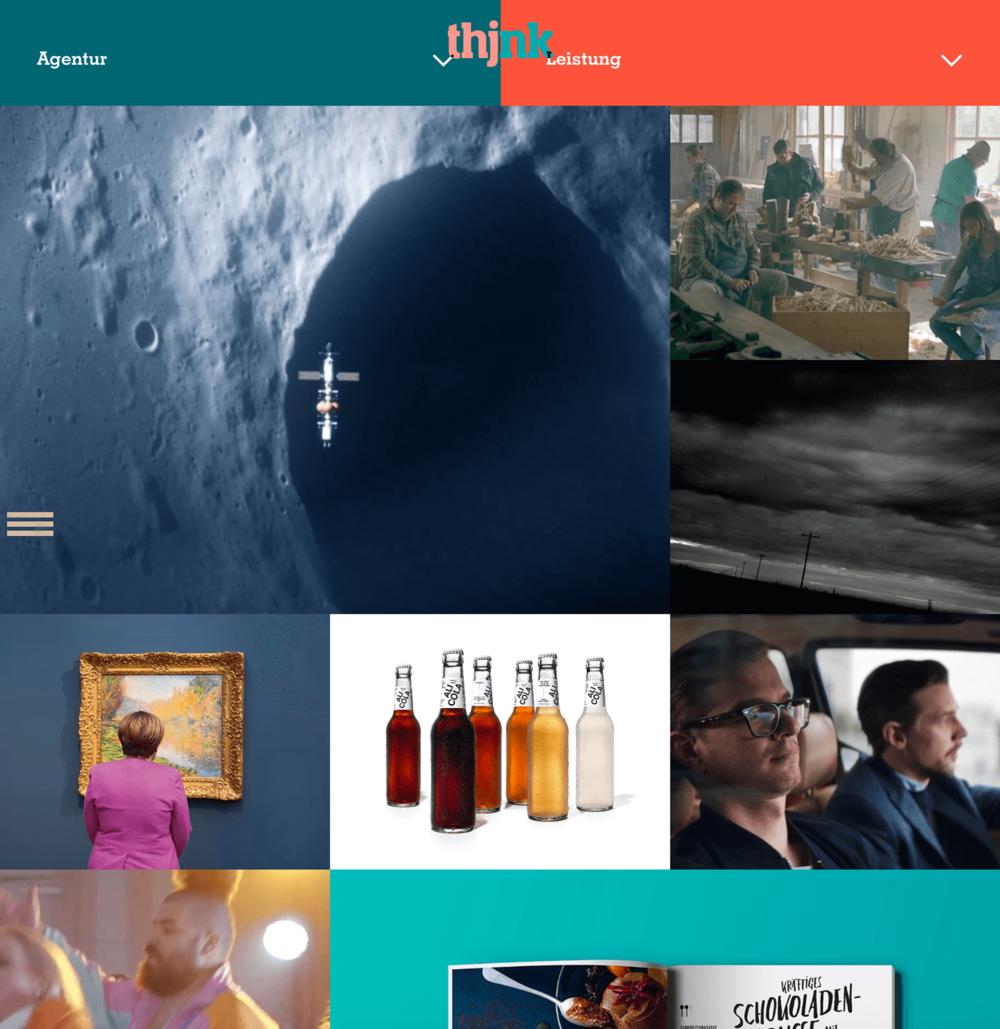 Case: Relaunch thjnk Website - UX- und UI-Design, Technische Konzeption, Steuerung der Entwicklung,mehr unter Work