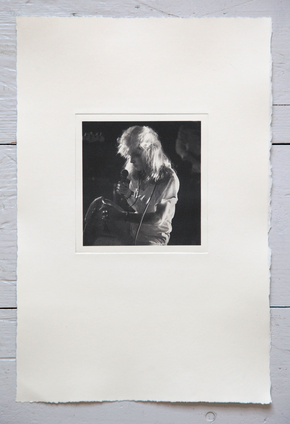 £500 Unique A3 photogravure print: Debbie Harry, Roundhouse 1978. Artist's Proof, signed by Philip Grey + your name on our founders' wall. - Originally photographed during the band's first major UK tour at London's Roundhouse, round the corner from darkroom. This shot of the Blondie singer has been made into a photogravure print and this is your opportunity to acquire a unique artist's proof signed by the photographer.