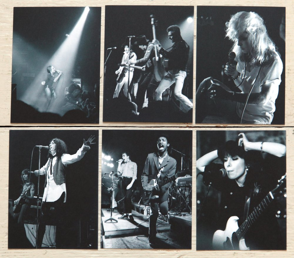 Phil Grey's Postcards. Blondie, The Clash, Patti Smith, Iggy Pop, The Specials, Chrissie Hynde, The Pretenders