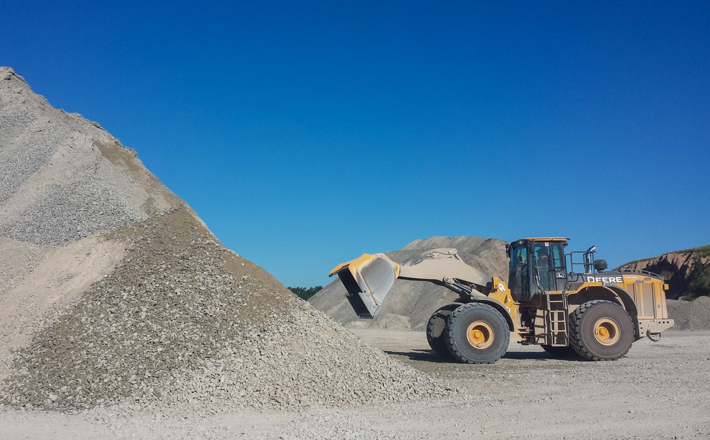 How much aggregate do we use each year? -