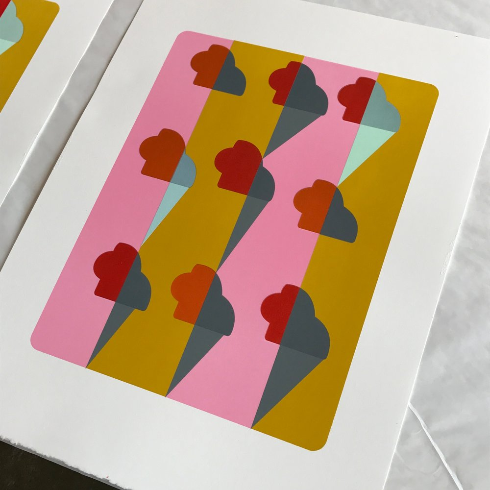 Puzzlin' Evidence,2017 lithograph produced with master printer Brian Garner at Supergraphic (Durham, NC),will be available for purchase at The Columbus Museum the night of the talk/reception. It is a limited edition of 12 prints.