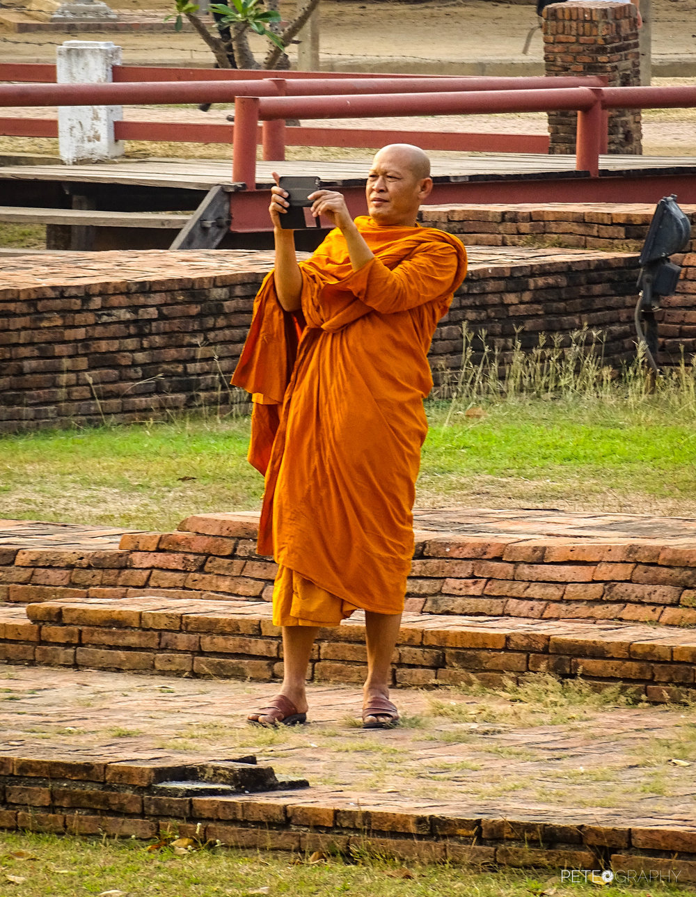 MONK WITH A PHONE